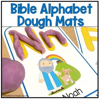 Bible Alphabet Dough Mats
