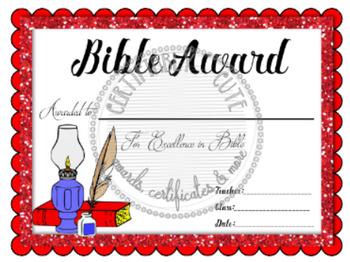 Bible Award