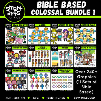 Bible Based COLOSSAL Bundle 1 Clip Arts
