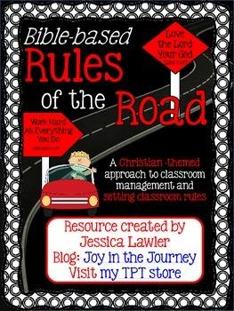 Bible Based Classroom Rules Back to School Bulletin Board Set