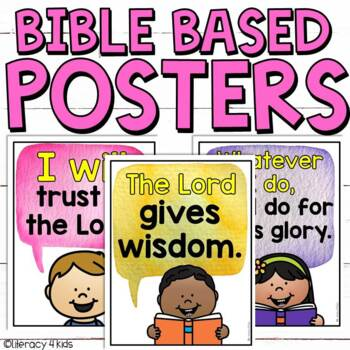 Bible Based Posters for Christian Schools (Lower Elementary)