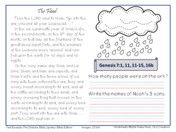Bible Basics, Noah and the Flood, for Grades 2-4