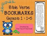 Bible Bookmarks Genesis 1 Bible Verse Memorization
