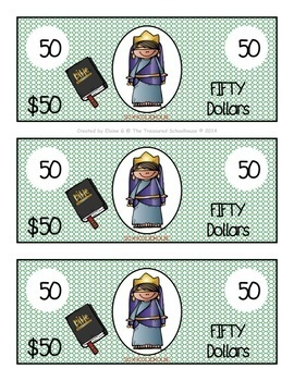 Bible Bucks in Color - Religious Incentive