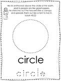 Bible Characters and Verses Shape Tracing printable worksheet. Preschool Bible