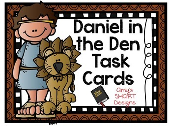 Bible Cards: Daniel in the Lions' Den Task Cards