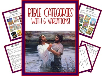 Bible Categories - With 6 Variations!