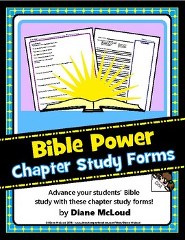 Bible Chapter Study Forms/Psalm Study - Great for Personal or Group Study