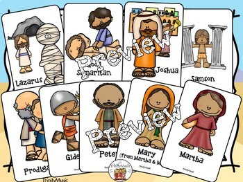 Bible Character Go Fish Game