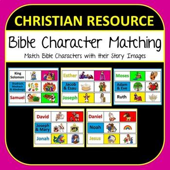 Bible Character Matching Game - Teach Kids Christian Bible Stories Fun Activity