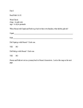 Bible Study for preteens - Ruth