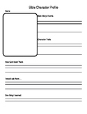 Bible Character Worksheet- Character Analysis