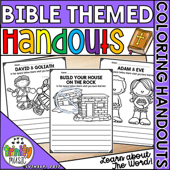 Bible Character and Story Coloring (and Fill In) Handout