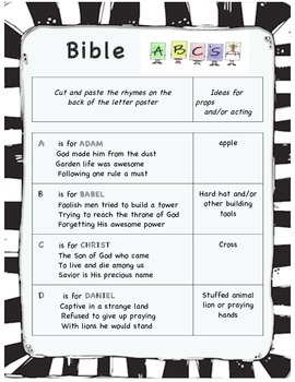 Bible Characters ABC Play for early readers