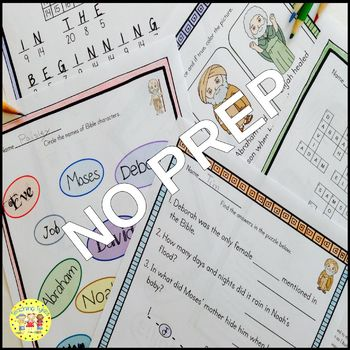 Bible Characters Activity Bundle