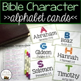 Bible Characters Alphabet Cards