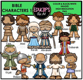 Why people in the Bible are called characters