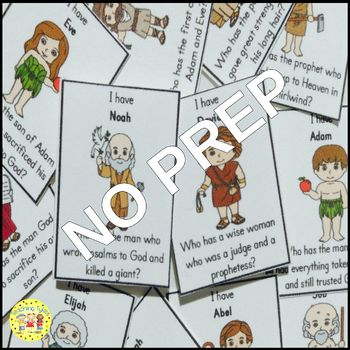 Bible Characters I Have, Who Has FREEBIE