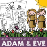 Bible Characters for Preschoolers: Adam and Eve Coloring Book