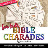 Bible Charades for Kids -36 Easy Prep Cards, Fun Games for Church & More