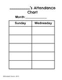 Bible Class Attendance Chart Freebie