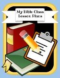 Bible Class Blank Lesson Plan Book