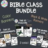 Bible Class Bundle- 10 Commandments, 10 Plagues, Names of God