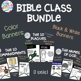 Bible Class Bundle- 10 Commandments, 10 Plagues, Names of