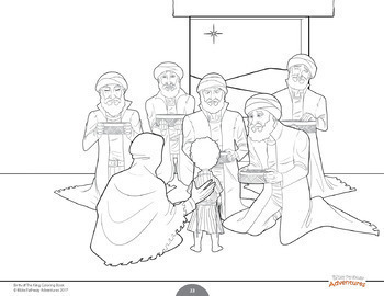 Bible Coloring Book: Birth of The King