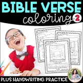Bible Verse Coloring Sheets Set 2 {Bible Friends, Verses, Handwriting Practice}