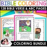 Bible Coloring Sheets BUNDLE {Bible Characters, ABC's, Verses, & Handwriting}