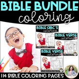 Bible Coloring Sheets BUNDLE {Bible Characters, ABC's, Ver