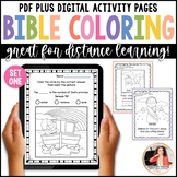 Bible Coloring Sheets Set 1 {Bible Characters, Verses, & Handwriting Practice}