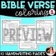 Bible Coloring Sheets Set 1 {Bible Characters, Verses, & Handwriting Practice}