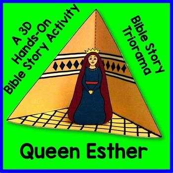 Queen Esther Triorama Bible Craft by Elizabeth McCarter | TpT