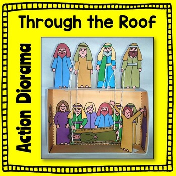 Through the Roof Action Diorama Bible Craft