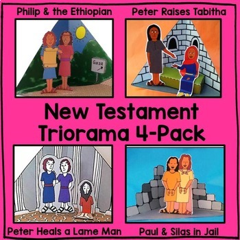 Triorama 4-Pack (Stories of Peter, Paul, and Philip) Bible Craft
