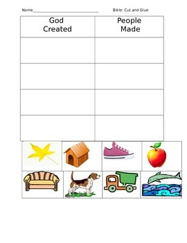 Bible Creation Worksheet