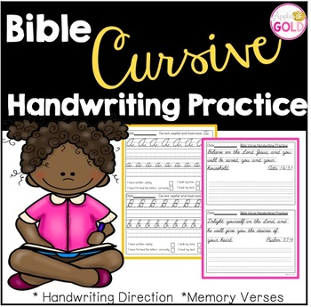 Bible Cursive Handwriting Practice