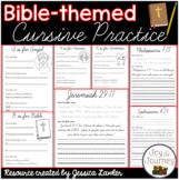 Bible Cursive Practice