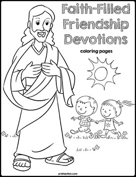 Bible Devotions | Friendship Coloring Pages by preKautism | TpT