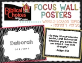 Bible Focus Wall (Verse and Weekly Lesson) for Biblical Ch