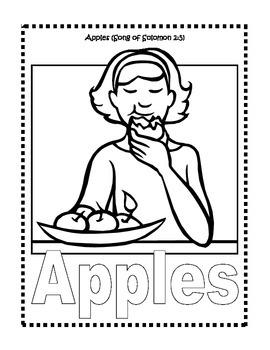 Bible Foods Coloring Book