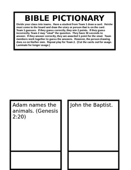 Bible Games / Pictionary