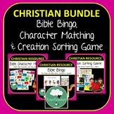 BIBLE GAMES - Bible Bingo, Creation Sorting Game & Bible C