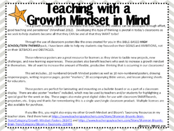 bible growth mindset posters and writing activities teens high school