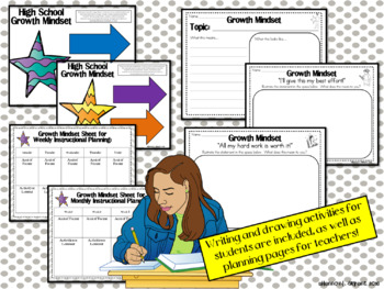 Bible Growth Mindset Posters and Writing Activities (Teens/High School)
