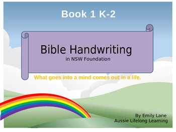 Bible Handwriting in NSW Foundation font Australian