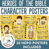 Heroes of the Bible Descriptive Character Posters