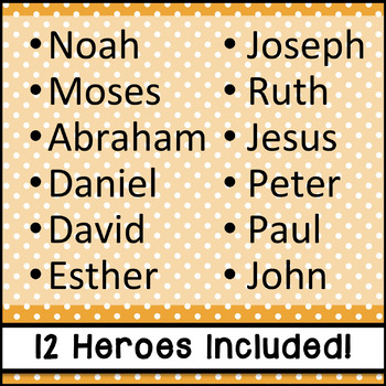 Bible Heroes Emergent Reader {2 Versions}